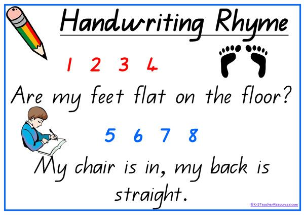 Free printable handwriting rhyme ideal little rhyme for for Sentence of floor
