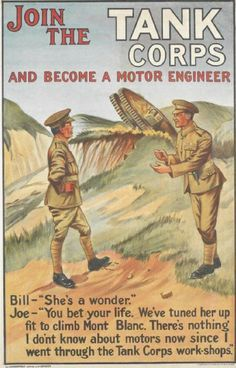 British Tank Corps WWI recurtment poster
