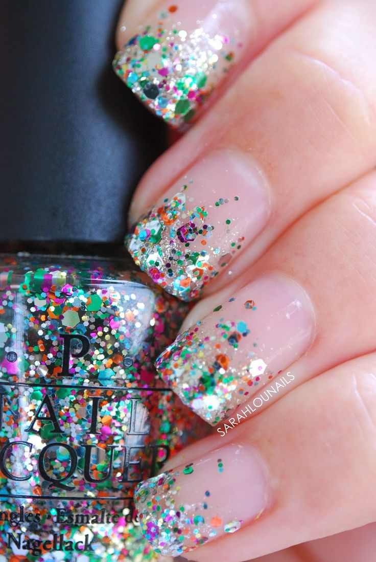 About baby boomer nail art tutorial by nded on pinterest nail art - We Can T Get Enough Of This Ultra Fabulous Sparkly Look From Sarah Lou Of Sarah Lou Nails Start With A Clear Base With Subtle Sparkle