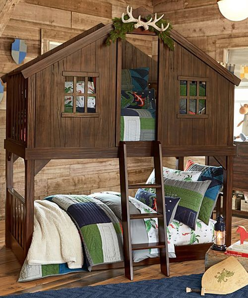 A Bunk Bed Thatu0027s Perfect For Any Kid Who Ever Dreamed Of Having A Tree  House.