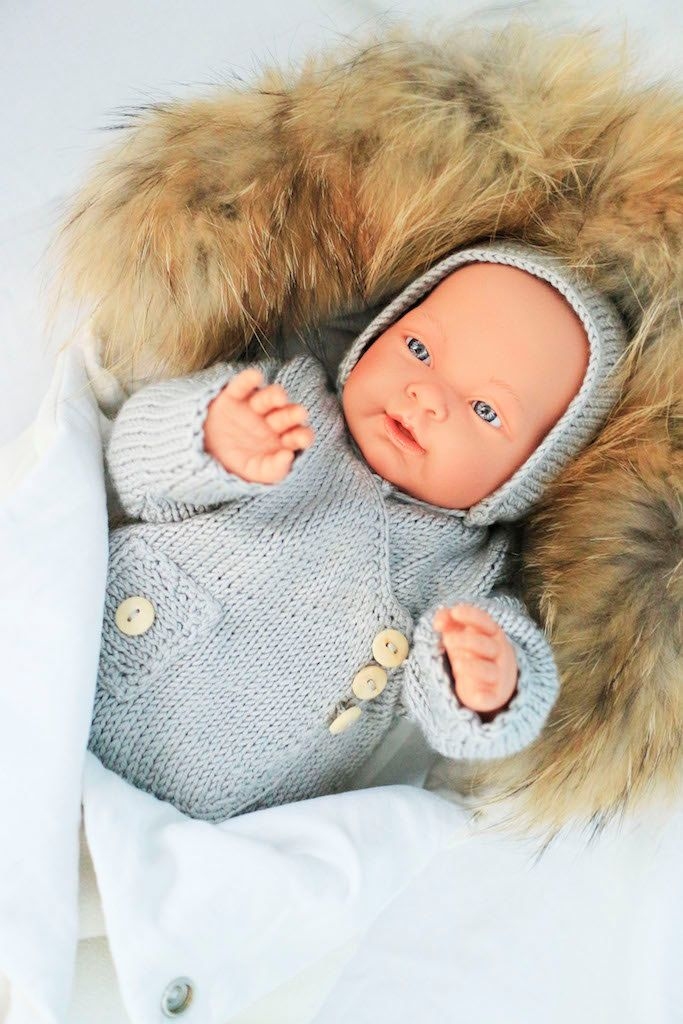 Grey baby sweater. Knit newborn sweater. Handmade knitted baby coat. Spring, summer, winter fall baby coat. Baby shower gift. Take me home. by Jacobstoyshop on Etsy