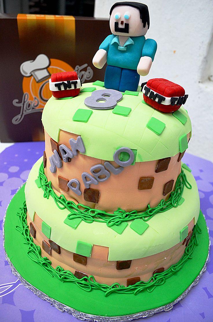 Pastel De Minecraft Pasteles Infantiles Pinterest