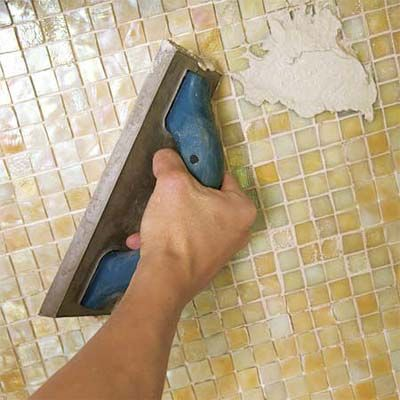 how to install mosaic glass tile backsplash