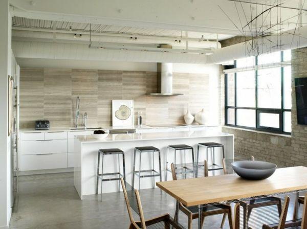 weißes küchenspiegel in der küche - 41 interessante Küchenspiegel
