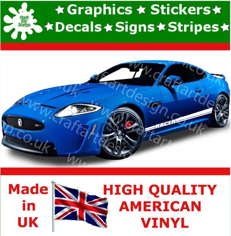 Jaguar RS Large Side Racer Stripe Car Stickers Kit Vinyl Race Car - Custom vinyl car decals uk