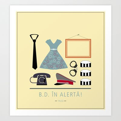 "ROMANIAN MOVIE ""B.D. IN ALERTA!"" Art Print by StudioSotron - $17.68"