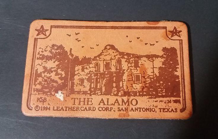 Collectible 1994 The Alamo Brown Leather Fridge Magnet Souvenir Memorabilia - Leathercard Corp. https://treasurevalleyantiques.com/products/collectible-1994-the-alamo-brown-leather-fridge-magnet-souvenir-memorabilia-leathercard-corp #Collectibles #1990s #90s #Nineties #TheAlamo #Alamo #Battles #Revolution #SanAntonio #Texas #TX #Magnets #Fridge #Souvenirs #Memorabilia #Leather #Leathercard