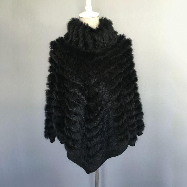 ==> [Free Shipping] Buy Best 2017 Winter Knitting coat female Rabbit Fur Bat sleeve head cloak woven collar coat natural fur real fur women warm fur coats Online with LOWEST Price | 32823371541
