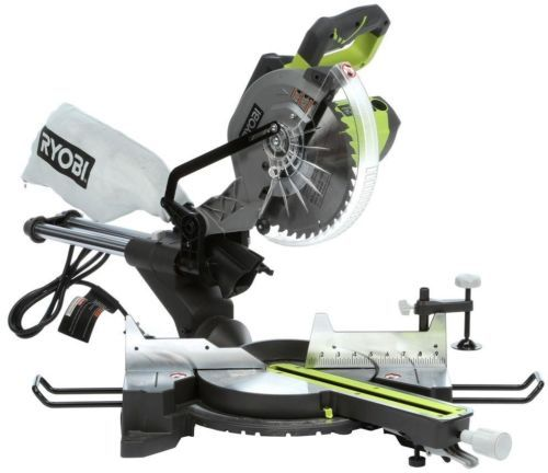 Miter and Chop Saws 20787: Ryobi Sliding Miter Saw Bench With Laser 15-Amp 10 Corded Adjustable Exact-Line -> BUY IT NOW ONLY: $196.9 on eBay!