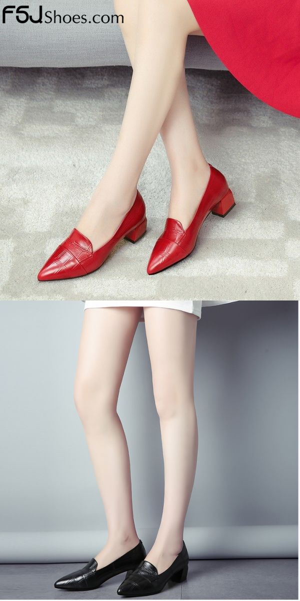 b5e1b5b46 Women's Style Pumps and D'orsay Heels Coral Red, Black Pointy Toe Chunky  Heels Elegant Dresses Shoes Sexy Comfortable Shoes Bucket List Ideas 2018  Chic ...