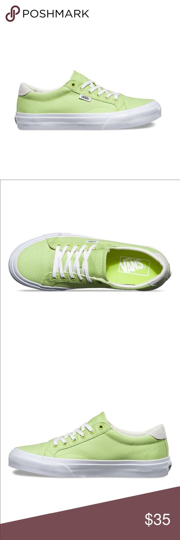 Court (canvas) green vans Canvas green glow/ blanc size: 9.0 mens / 10.5 women brand new never been used Vans Shoes Sneakers