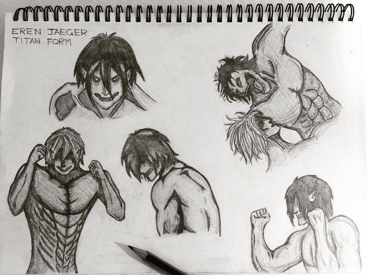 Eren and his Titan form xxx
