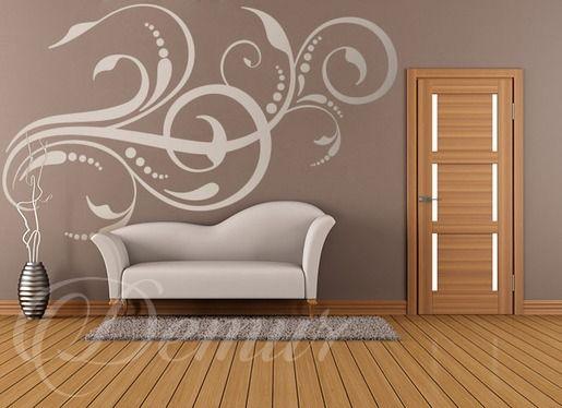 Spójne zawijasy - Abstrakcja - Naklejka na ścianę - Demur
