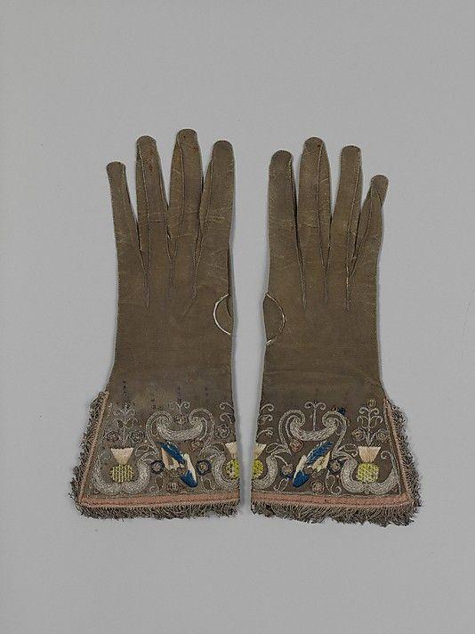 Date:     ca. 1620 Culture:     British Medium:     Leather, silk and metal thread
