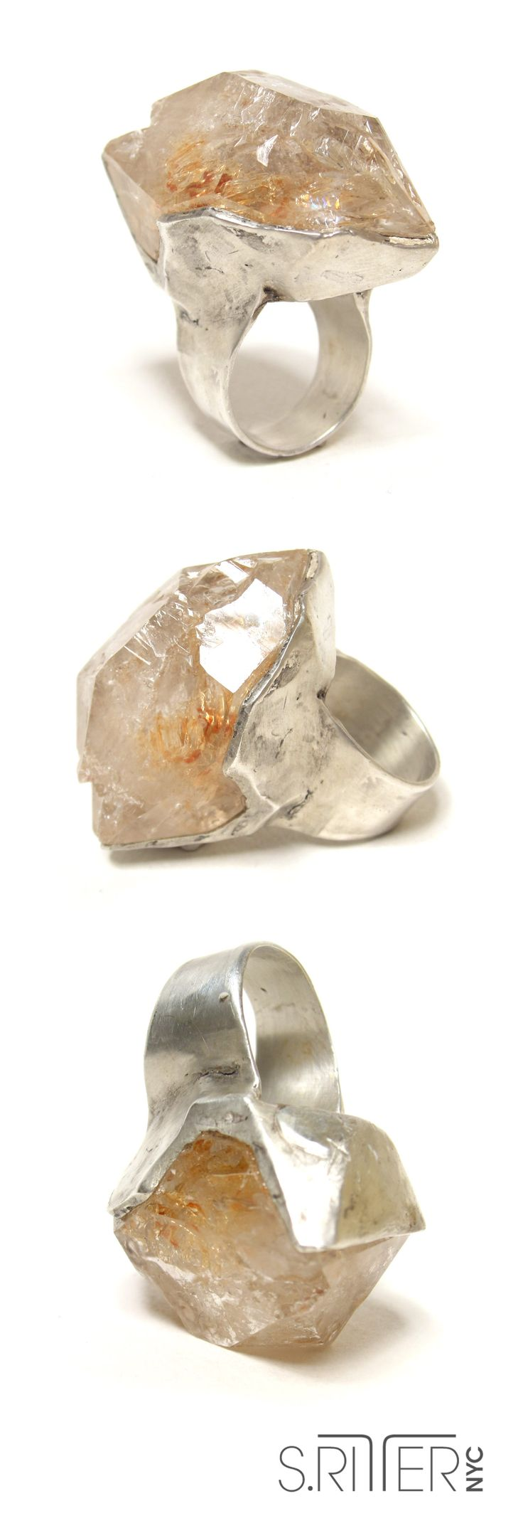 Is quartz considered a natural stone - Ice For Your Hand Raw Fenster Quartz Set In Sterling Silver Raw