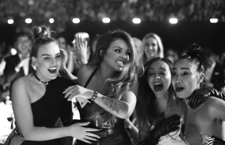 Little Mix winning a Brit Award for British Single