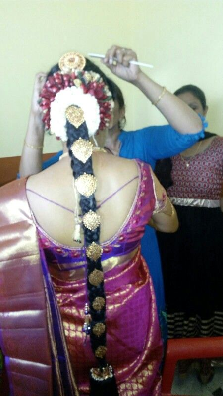 South indian bridal hairstyle # on my # D Day