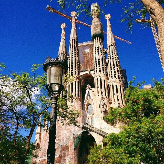La Sagrada Familia, Barcelona. Photo courtesy of natasiaspassport on Instagram.