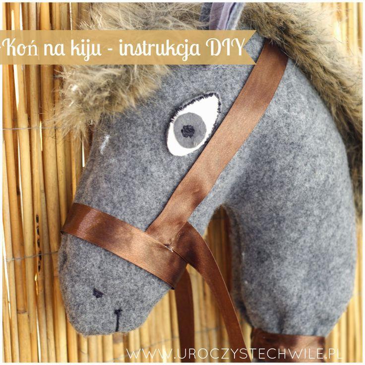 Koń na kiju zrób to sam/ horse on stick DIY