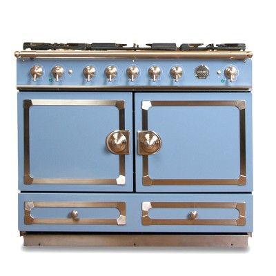 I love the La Cornue CornuFé Stove, Provence Blue on Williams-Sonoma.com  I seriously want this stove... so nice and so expensive  =(