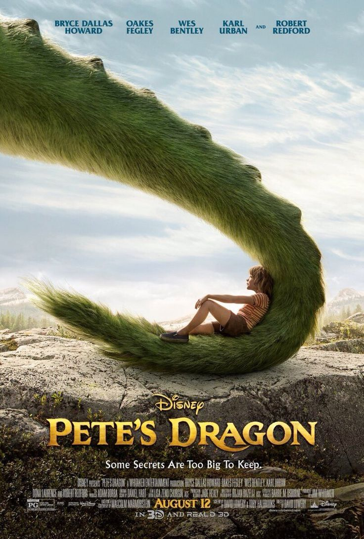 Pete's Dragon (2016). This dragon is hairy.......! What?!