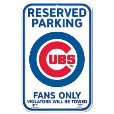 Chicago Cubs Baseball Style Reserved Parking Sign