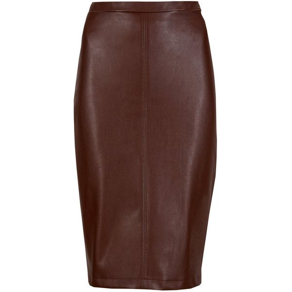 M&S Collection PETITE Pencil Skirt ($40) ❤ liked on Polyvore featuring skirts, brown, cocktail skirt, below knee length pencil skirts, petite skirts, pencil skirt and holiday skirts