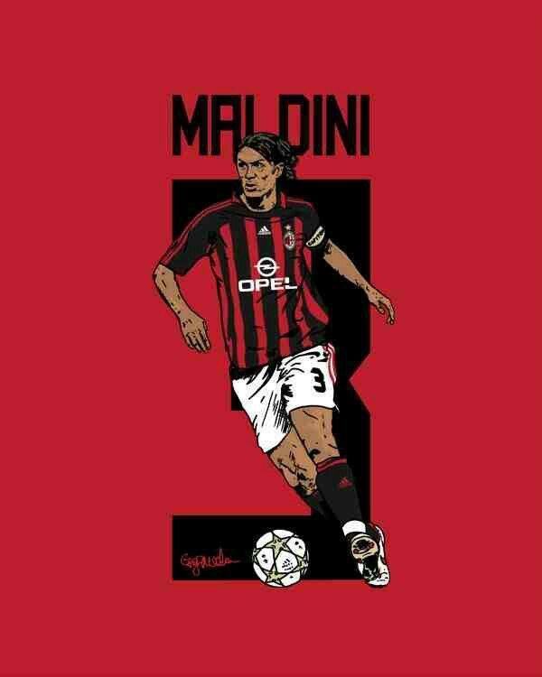 Paolo Maldini of AC Milan wallpaper.