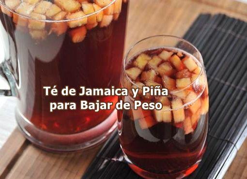 Pensamientos del Alma: Te de Jamaica y Piña para Bajar de Peso