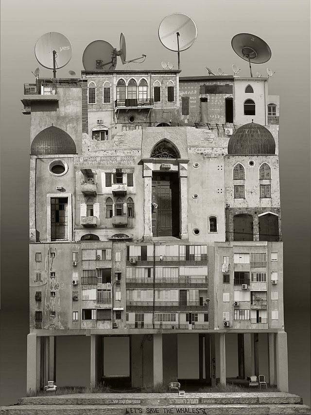 Colagens Arquitetônicas em larga escala por Anastasia Savinova