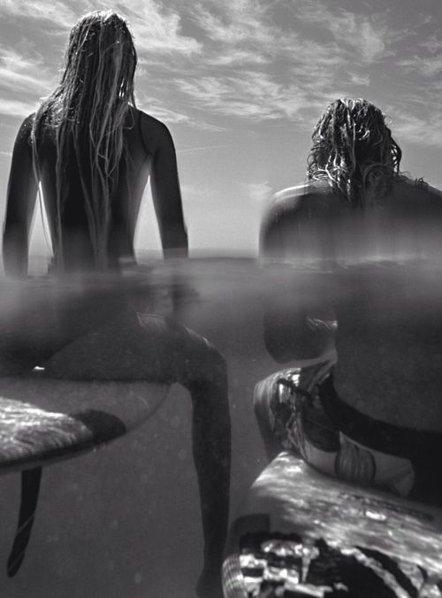 woman man surf waterline beauty freedom warm skin