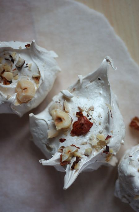 Brown Sugar, Cinnamon, and Hazelnut Meringues