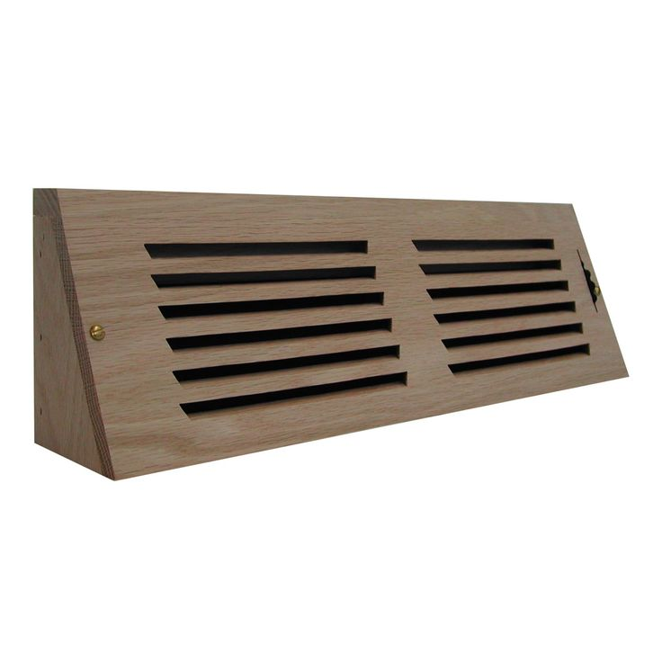 All American Wood Register Co. AARHBAR Horizontal Slot Baseboard Register w/ Recessed Air Flow Control - ArchitecturalDepot.com