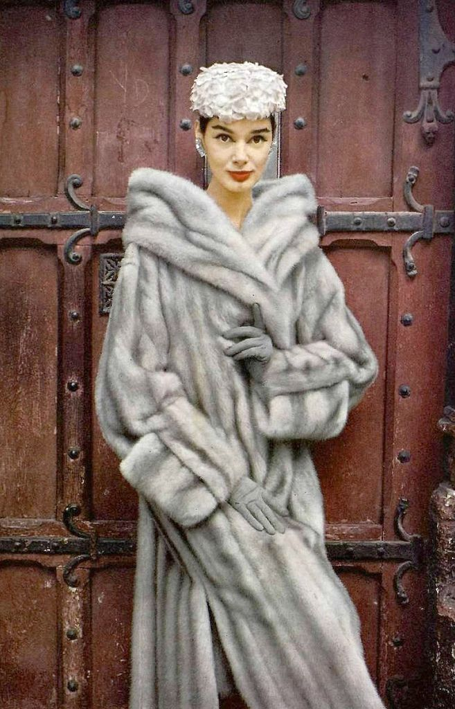 1956 ~ Jacky Mazel in natural blue EMBA mink coat by Maurice Kotler, hat by Maud et Nano, photo by Virginia Thoren
