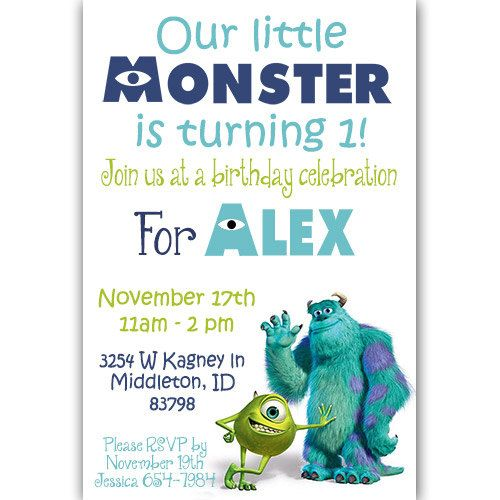 ★★★THANKS FOR VISITING MY SHOP★★★  This listing is for adorable #Birthday #Party Invitations (Digital or Printed). #Digital files are emailed at a high resolution 300dpi JPG... #birthday #party #invitation #photo #personalized #digital #file #announcement #disney #monsters #university #inc #sully