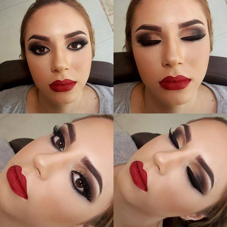 Bom diaaaa!!!! Make para Deborah😍 Lindaaaaaaaaaaa de lábios vermelhos💄💄👄 Vamos nos inspirar para o Natal? Que está chegando😀🎁🎅 #makeup #maquiagembrasill #nars #maquiagemmx #redlips #anastasiabeverlyhills #lehpequenomakeup #mua #batombruna #diva