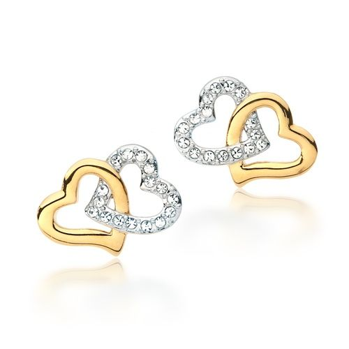 Dual Tone Match Earrings with Swarovski® Crystals