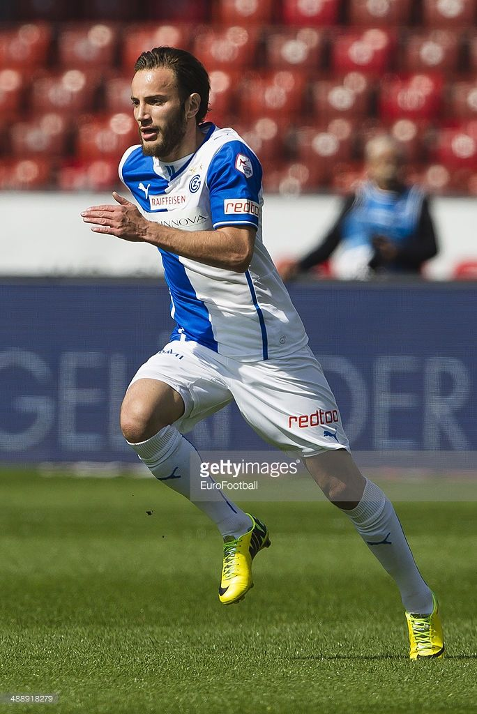 Grasshopper Club midfielder Shkelzen Gashi in action during the Swiss Super League football match between Grasshopper Club and BSC Young Boys held at the Letzigrund stadion on May 4, 2014 in Zurich, Switzerland.