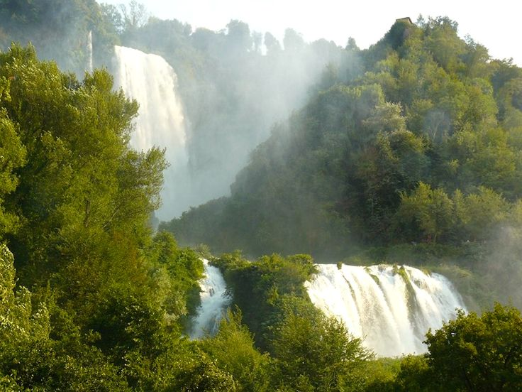 Cascata delle Marmore waterfalls in Umbria, some of the tallest in Europe, first made by the Romans.  www.traveladept.com