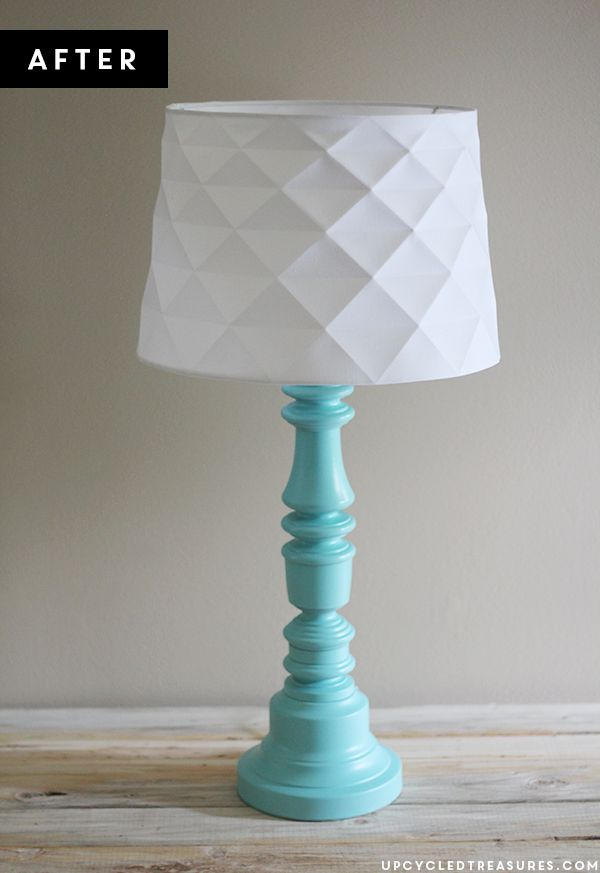 Thrifted Lamp Makeover | UpcycledTreasures #DIY #upcycled #lamp. Definitely need to do this to a few of the old lamps I have