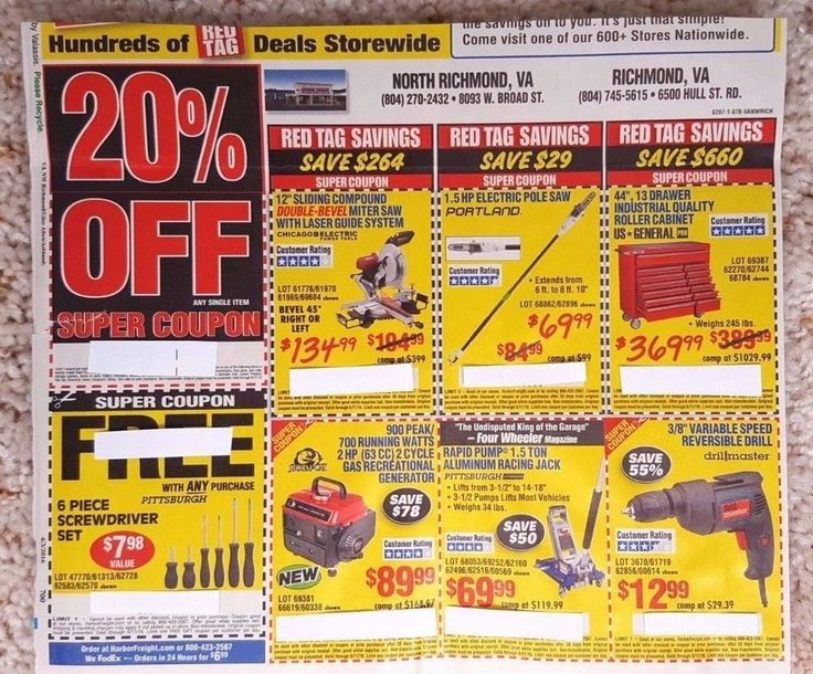 HARBOR Freight TOOLS Coupon SHEET 20% OFF Deal SAVINGS Promo CODE Online SHEET!!