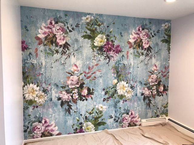 We love seeing your projects coming together, seen here is our Aubriet wallpaper- can't wait to se the finished project!