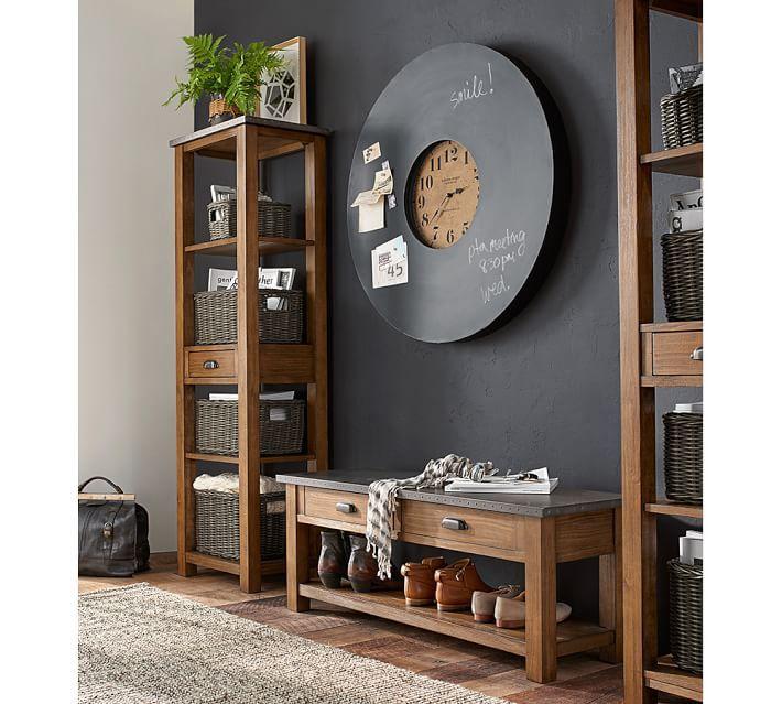 Trouvailles Pinterest: Horloges | Les idées de ma maison Photo: ©potterybarn.com #deco #horloge #mur #idees #inspiration #accessoire