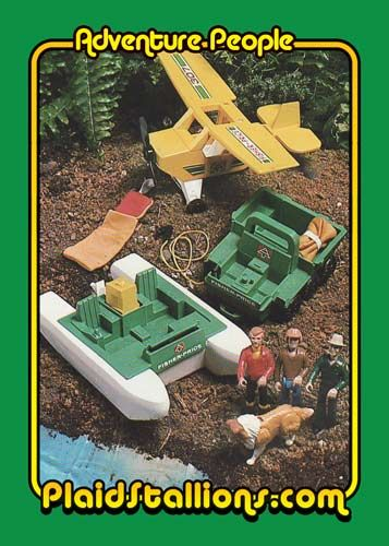 Plaid Stallions : Rambling and Reflections on '70s pop culture: Fisher Price Adventure People Trading Card