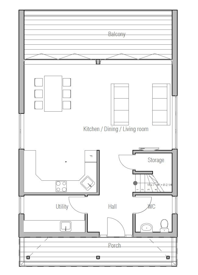 Affordable home ch191 detailed floor plans house plan for Detailed house plans