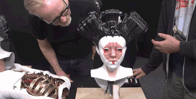 Adam Savage Geeks Out Over Ghost in the Shell's Robot Geishas