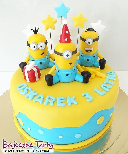 Torty dla dzieci, torty Warszawa, tort Minionki