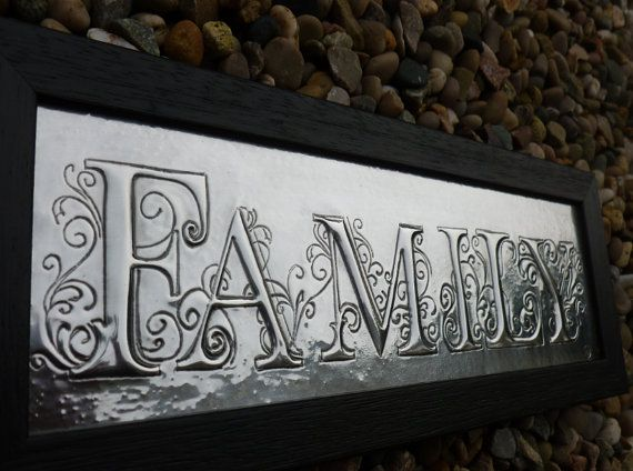 Hand Crafted Pewter Family Plaque by PewterConcepts on Etsy
