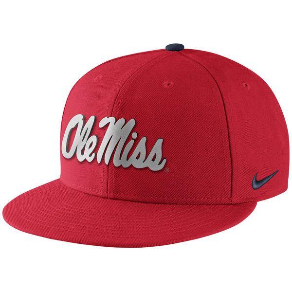 Ole Miss Rebels Nike True Reflective Snapback Adjustable Hat - Red - $31.99