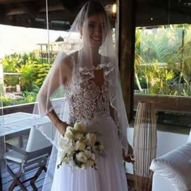 Leila Ramos veste Atelier Melissa Thiesen  #ateliermelissathiesen  #hautecouture  #handmadedtails  #casamento  #noiva